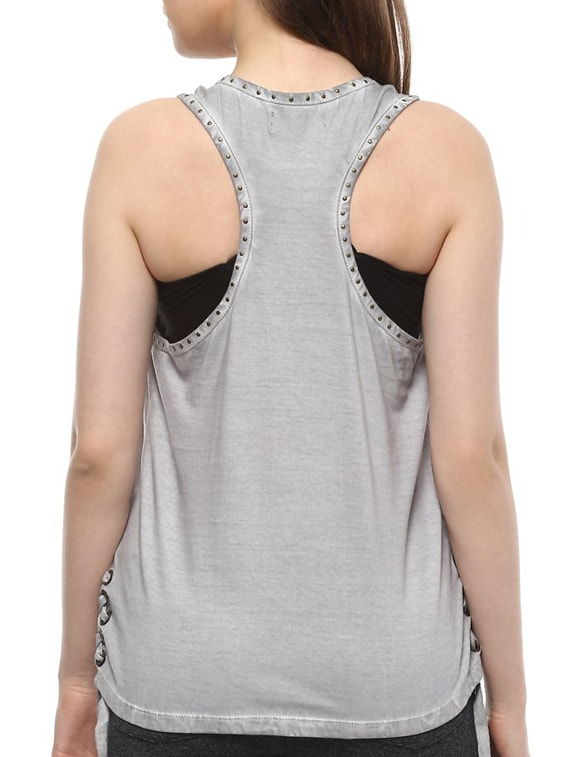 f14426b69ee5db Buy Embellished Side Tie-up Tank Top by People - Online shopping for Tops  in India
