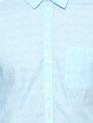blue cotton casual shirt - 15327245 - Standard Image - 4