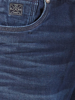 blue cotton washed jeans - 15328590 - Standard Image - 4