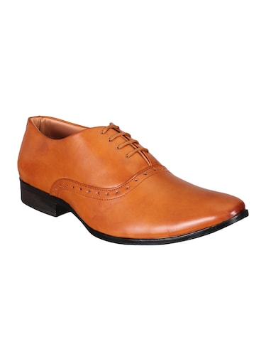 tan Leather lace-up oxford - 15328795 - Standard Image - 1