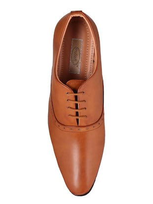 tan Leather lace-up oxford - 15328795 - Standard Image - 4
