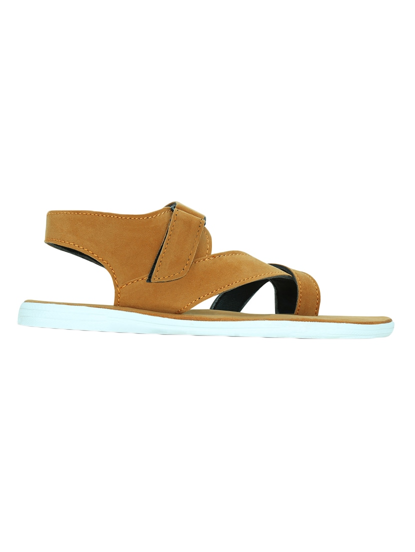 a12c31d5a74436 Buy Tan Suede Back Strap Sandal by Kielz - Online shopping for Sandals in  India