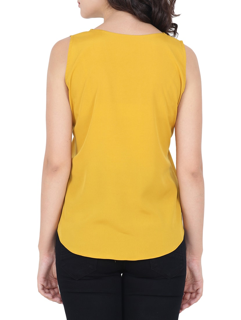 5c7291c592557 Buy Stylised Neck Sleeveless Top for Women from Both11 for ₹383 at 52% off