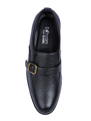 black Faux Leather slip ons - 15336138 - Standard Image - 4