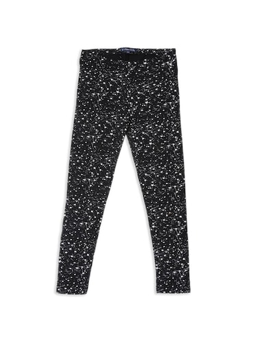 black cotton legging - 15336544 - Standard Image - 1