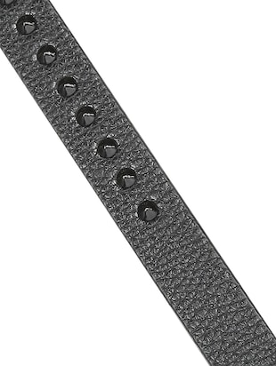 black leather belt - 15338947 - Standard Image - 4