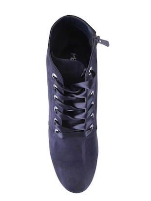 navy ankle  boot - 15339387 - Standard Image - 4