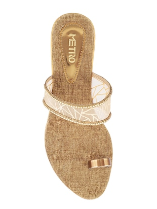 gold one toe sandals - 15339896 - Standard Image - 4