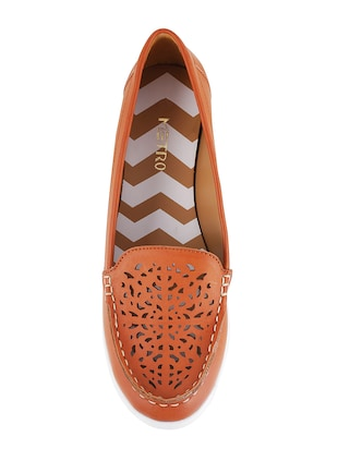 tan slip on loafers - 15340023 - Standard Image - 4