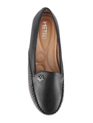 black slip on loafers - 15340032 - Standard Image - 4