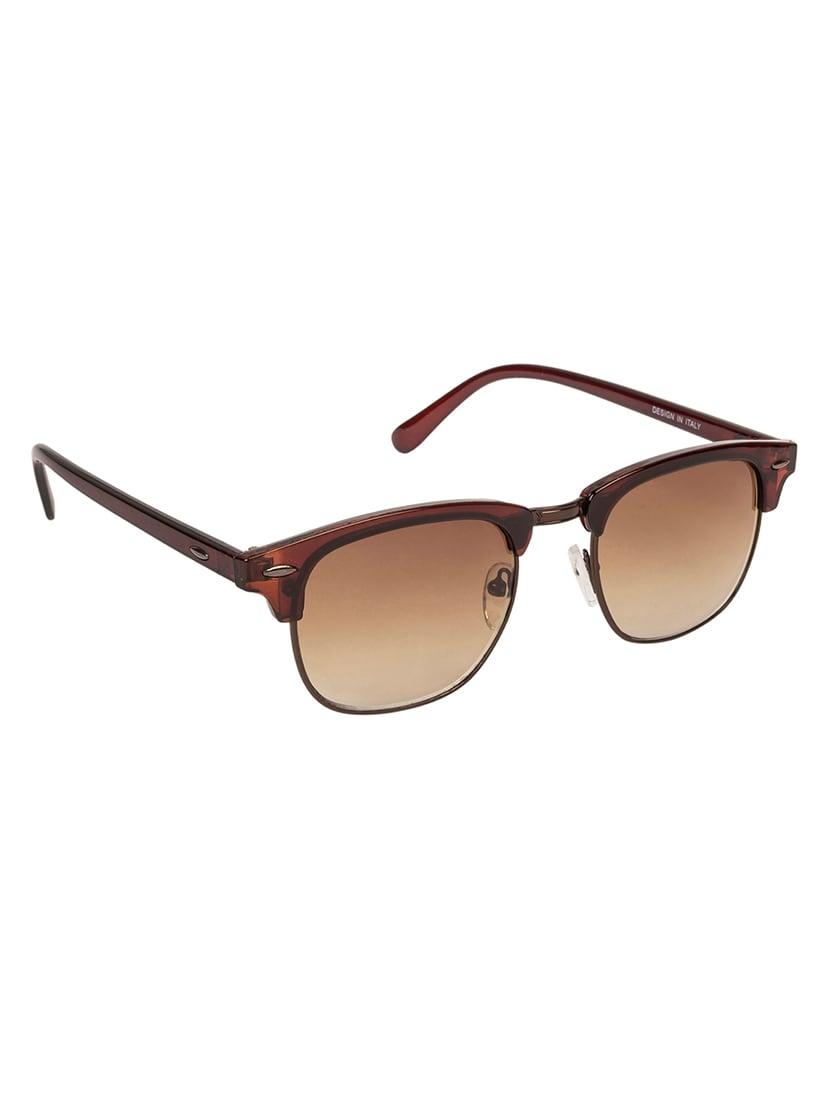 ce8e3c70ca Buy Arzonai Ultimate Clubmaster Shape Brown-brown Uv Protection Sunglasses  For Men   Women  ma-094-s11   by Arzonai - Online shopping for Men  Sunglasses in ...