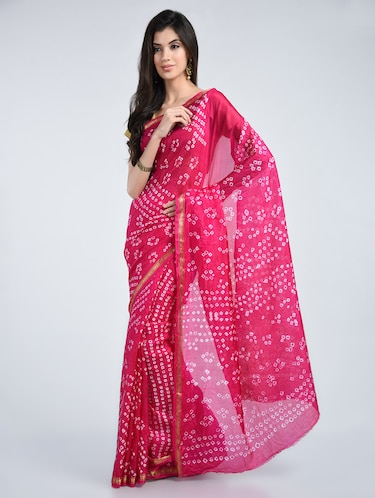 d4a27f47e8 Chiffon Bandhej Printed Saree With Blouse