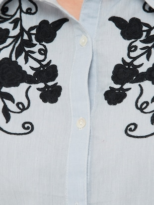 Embroidered yoke shirt - 15341972 - Standard Image - 4