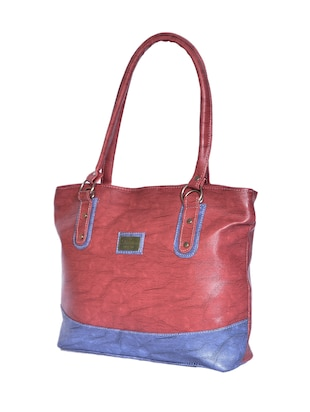 purple leatherette (pu) regular handbag - 15343452 - Standard Image - 4