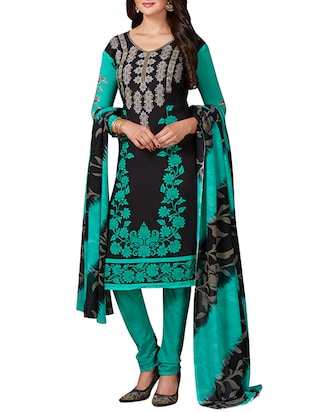 multi colored unstitched combo suit - 15344607 - Standard Image - 4