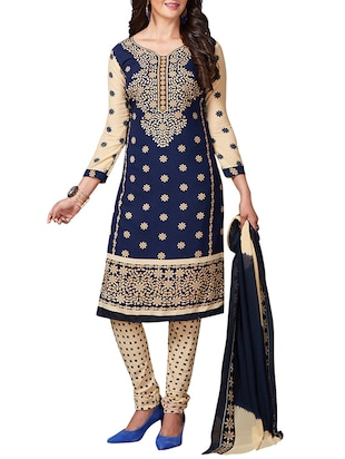 multi colored unstitched combo suit - 15344629 - Standard Image - 4