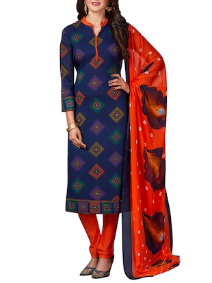 multi colored unstitched combo suit - 15344653 - Standard Image - 4