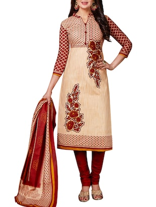 multi colored unstitched combo suit - 15344654 - Standard Image - 4