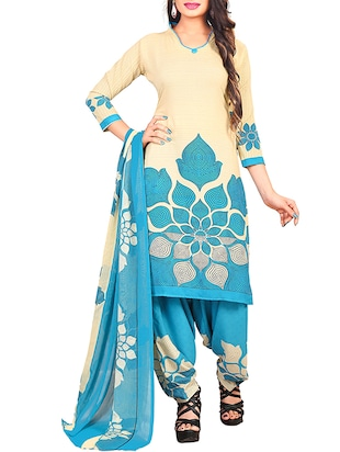 multi colored unstitched combo suit - 15344676 - Standard Image - 4