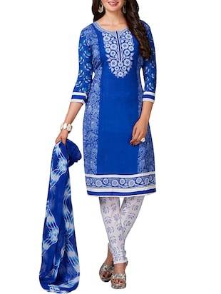 multi colored unstitched combo suit - 15344713 - Standard Image - 4