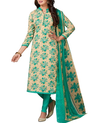multi colored unstitched combo suit - 15344746 - Standard Image - 4