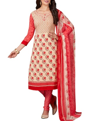 multi colored unstitched combo suit - 15344747 - Standard Image - 4