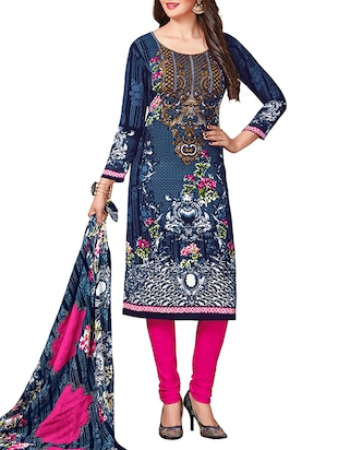 multi colored unstitched combo suit - 15344751 - Standard Image - 4
