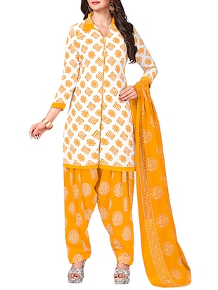 multi colored unstitched combo suit - 15344891 - Standard Image - 4