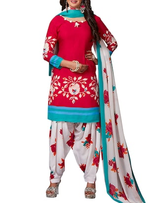multi colored unstitched combo suit - 15344906 - Standard Image - 4