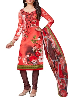 multi colored unstitched combo suit - 15344909 - Standard Image - 4