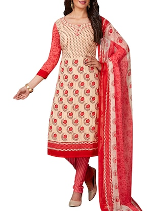 multi colored unstitched combo suit - 15344927 - Standard Image - 4