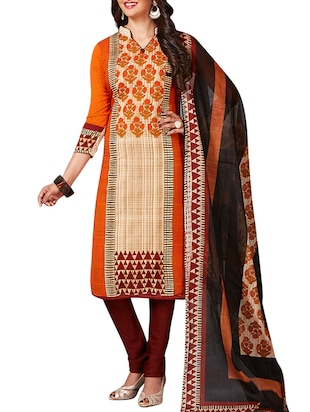 multi colored unstitched combo suit - 15344936 - Standard Image - 4