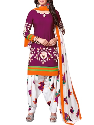 multi colored unstitched combo suit - 15344981 - Standard Image - 4