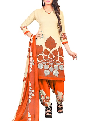 multi colored unstitched combo suit - 15345019 - Standard Image - 4