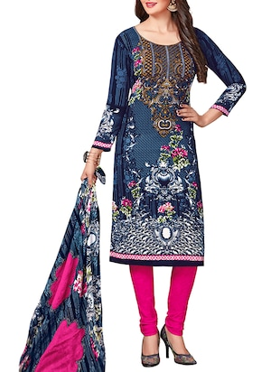 multi colored unstitched combo suit - 15345055 - Standard Image - 4