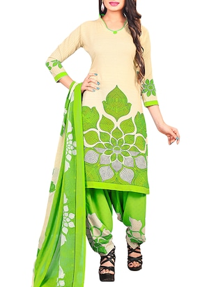 multi colored unstitched combo suit - 15345067 - Standard Image - 4