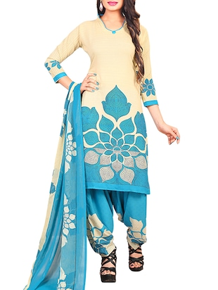 multi colored unstitched combo suit - 15345075 - Standard Image - 4