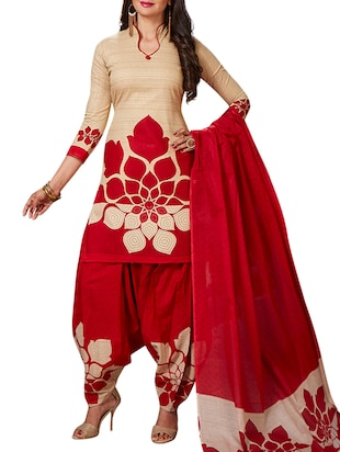multi colored unstitched combo suit - 15345094 - Standard Image - 4