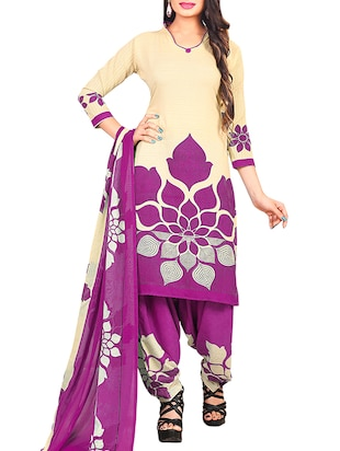 multi colored unstitched combo suit - 15345106 - Standard Image - 4