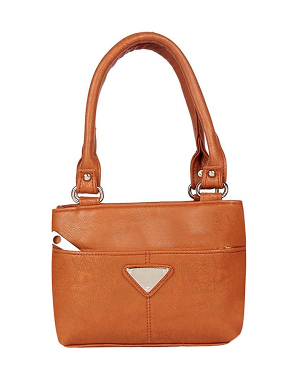 df0d9486fd54 Buy Brown Leatherette (pu) Regular Handbag by Dutty - Online shopping for  Handbags in India