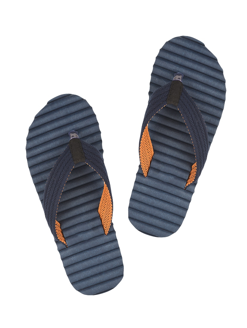 932411013bde Buy Navy Fabric Toe Separator Flip Flop for Men from Drunken for ₹505 at  47% off