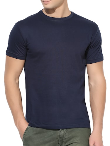 navy blue cotton t-shirt - 15364034 - Standard Image - 1