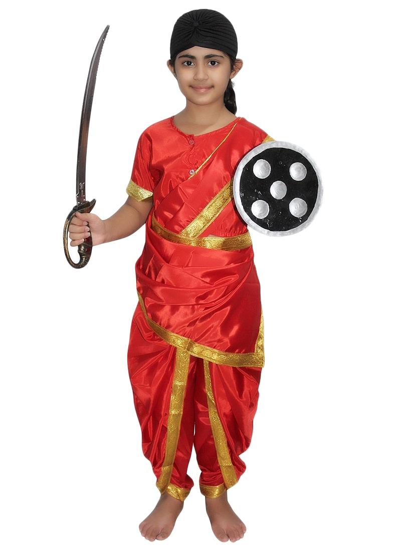 975e0fee488 Buy Red Polyester Rani Laxmi Bai Costume for Women from Kaku Fancy ...