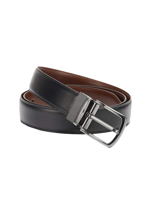 4d4480c6c70 Buy Black Leather Reversible Belt for Men from Kaezri for ₹423 at 83% off