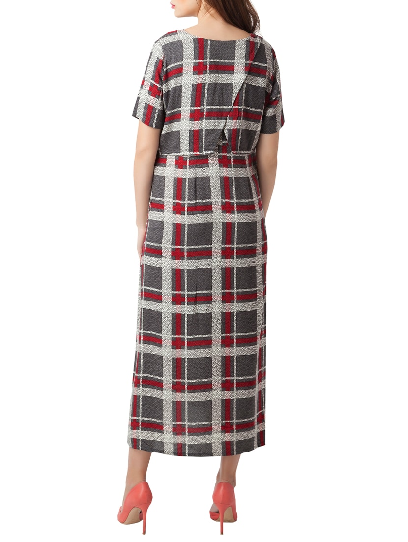 f5bdcde9ea9 Buy Checkered Textured Maternity Wear Dress for Women from Blush 9 Maternity  for ₹2640 at 20% off