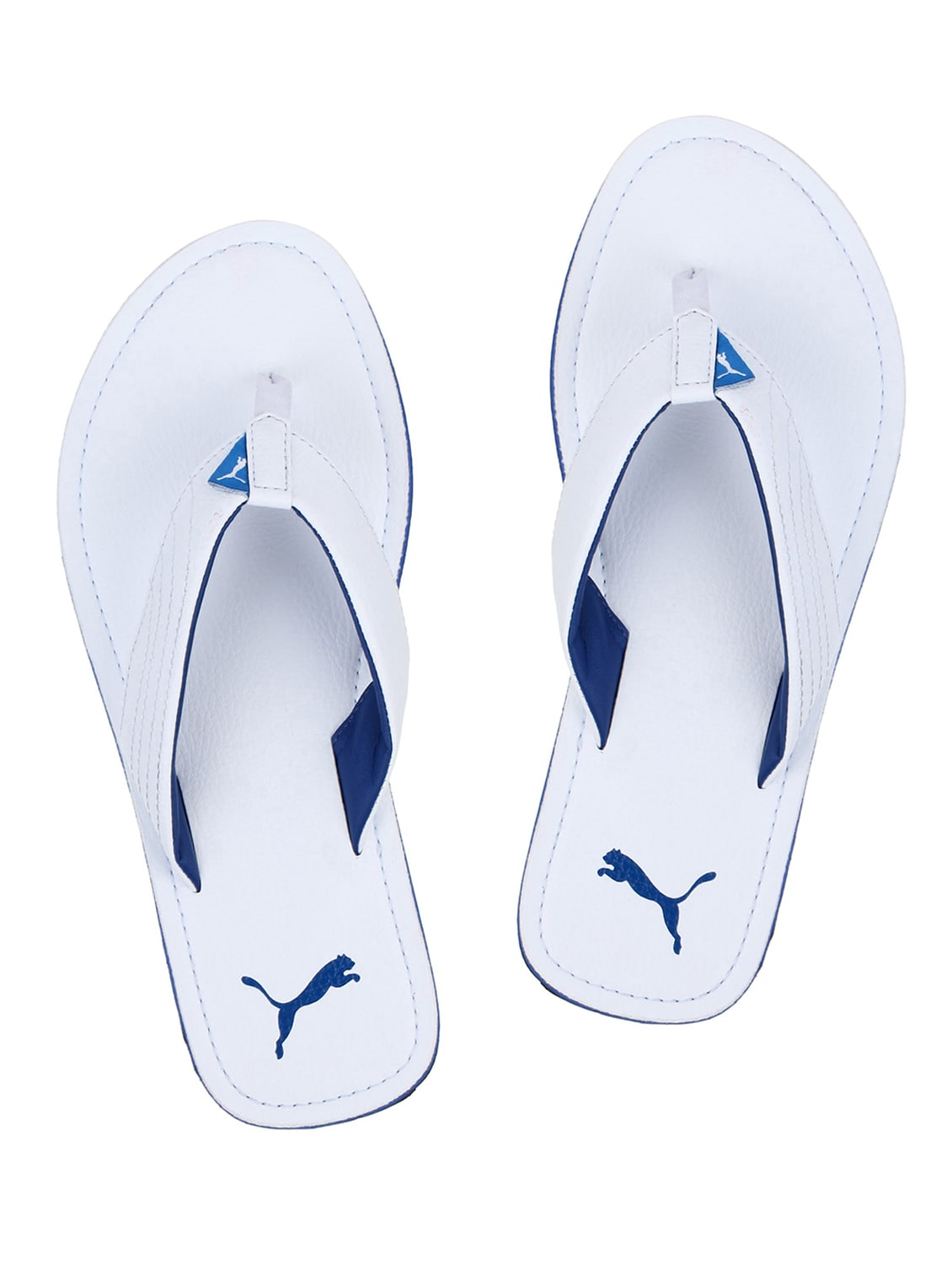 f0cab105a ... sale buy white leatherette toe separator slippers by puma online  shopping for slippers in india 15376579