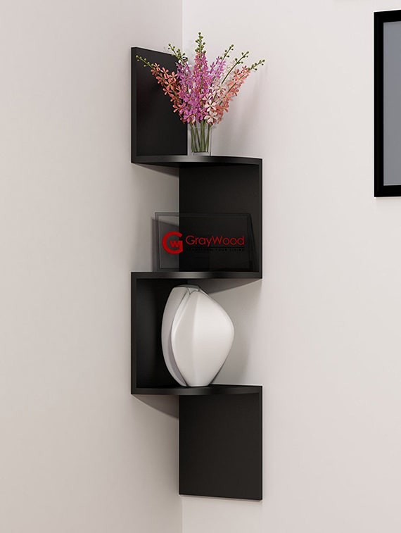 Decorative Wall Shelf Zigzag Corner Mount Unit 3 Shelves By Kings Decor Online Ping For In India 15378629
