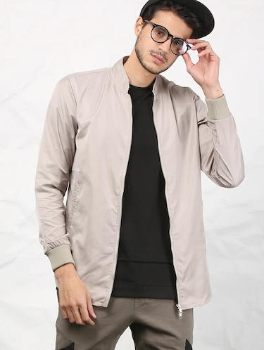 beige polyester casual jacket - 15379744 - Standard Image - 1