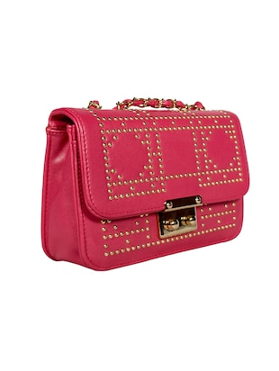 pink leatherette (pu) regular sling bag - 15384499 - Standard Image - 4