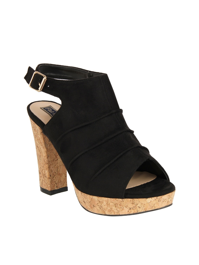 a069e8246f707 Buy Black Suede Ankle Strap Sandals for Women from Flat N Heels for ₹2392  at 37% off
